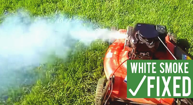 lawn mower white smoke fix