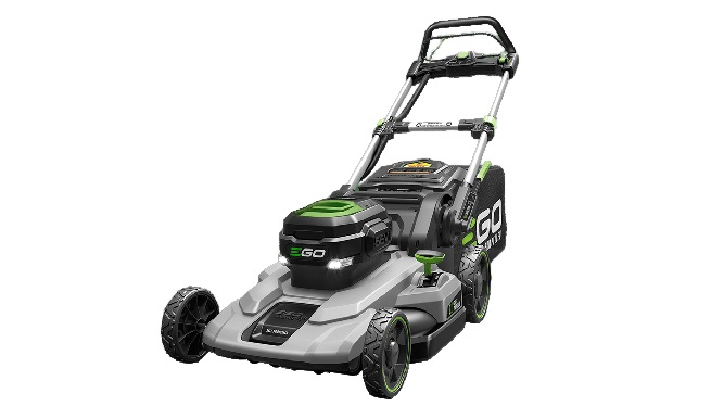 Electric lawn mower for steep hills