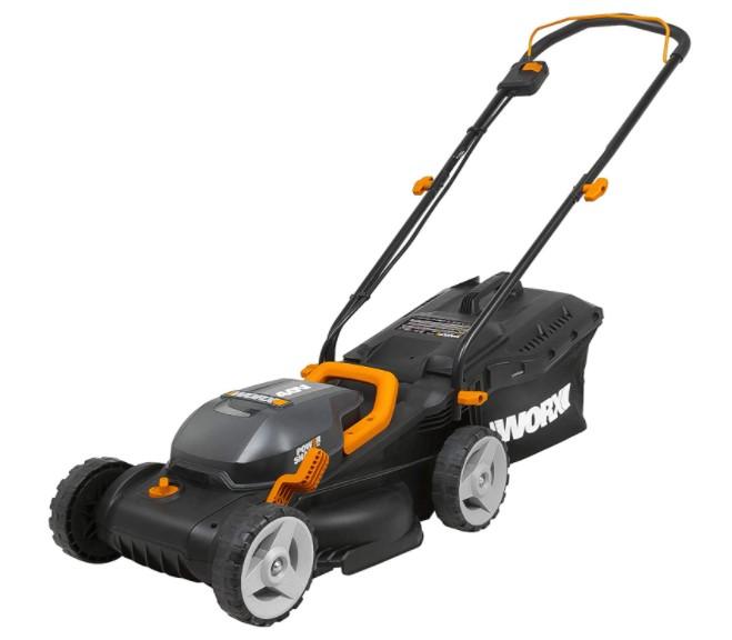 WORX WG779 40V - budget pick for best mower for push rough train